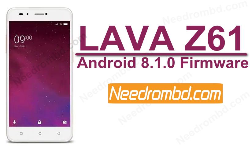 Lava Z61 MT6739 Android 8 1 Firmware | Smartphone Firmware | Lava