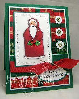 Stamping A Latte: A Dirty December Challenge!!  Primitive Santa! #decemberchallenge
