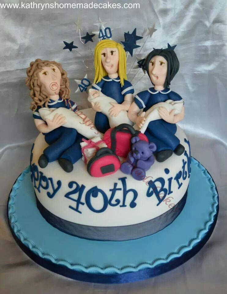 Novelty Birthday Cake Midwife Adult Birthday Cakes Pinterest