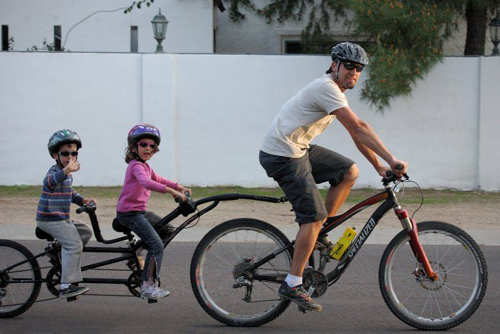 Pin for Later: 27 Things You Never Thought He'd Do . . . Till He Became a Dad Transport a Tandem (or More) Source: Flickr user cobalt123