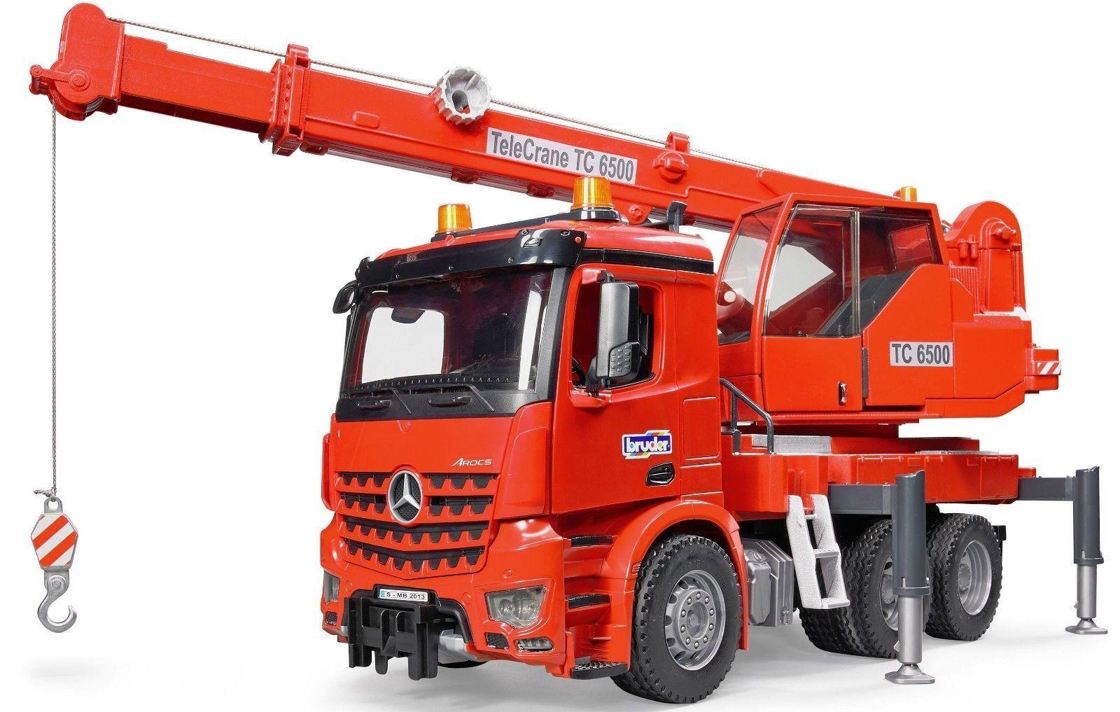 Toys car and truck  Bruder Toys MB Arocs Crane Truck w Light u Sound Module Mercedes