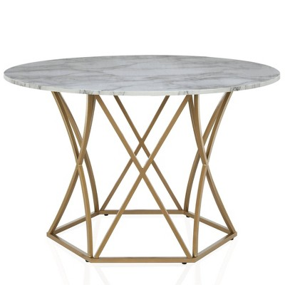 Elle Round Dining Table Gold Cosmoliving By Cosmopolitan Dining Table Gold Round Dining Table Round Dining