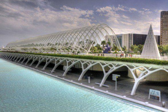 El jardín urbano de Calatrava
