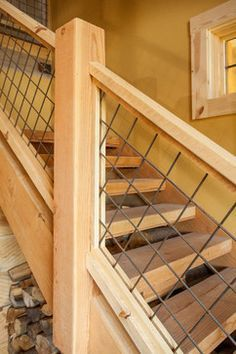 Hog Panel Stair Railing For Inside And Outside Railings