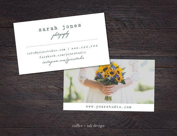 Wedding photography business card template photography business wedding photography business card template von coffeeandinkdesign reheart Choice Image