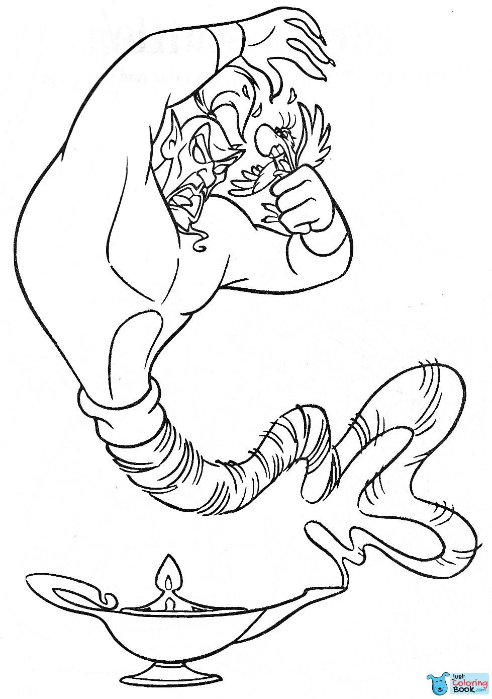 Walt Disney Coloring Pages Jafar Iago Walt Disney Inside