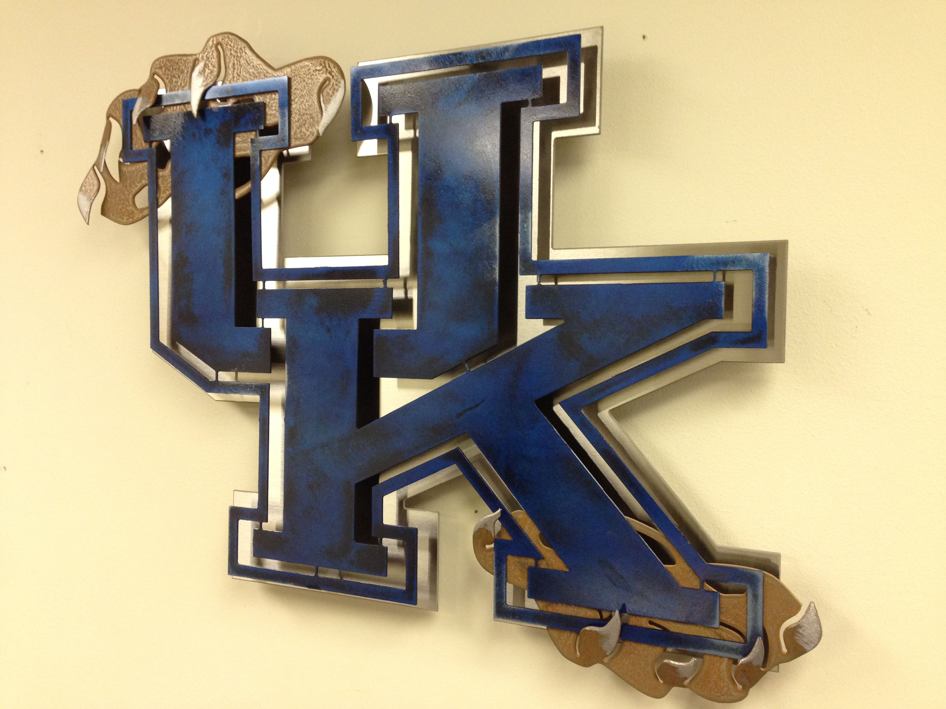 University of Kentucky Stainless Steel Wall Art. Custom made metal ...