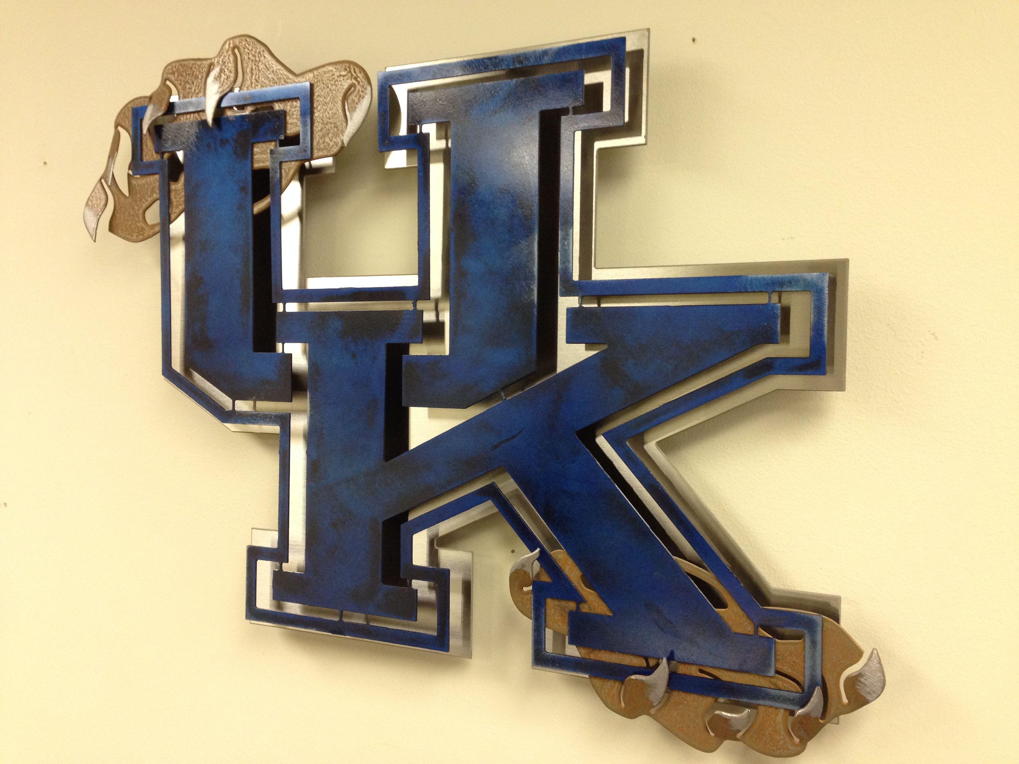 University of Kentucky Stainless Steel Wall Art. Custom made metal ...