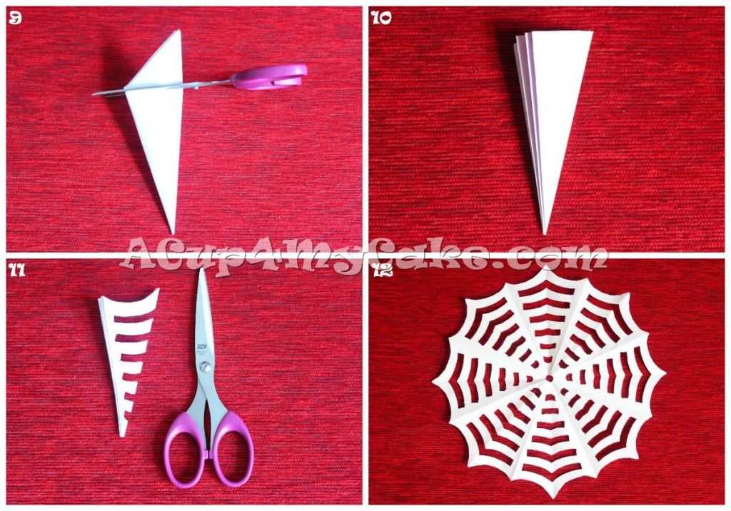 DIY: How to Make a Paper Spider Web. The easiest and cheapest Halloween  handcraft