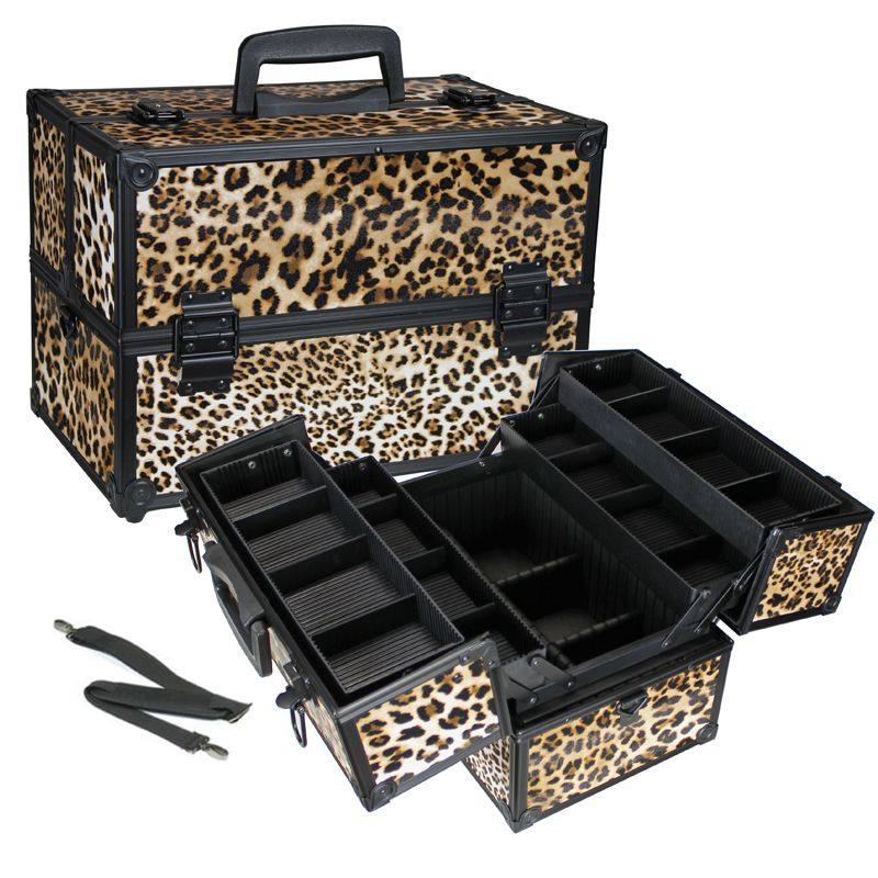 Leopard Makeup Case w/ Dividers Makeup case