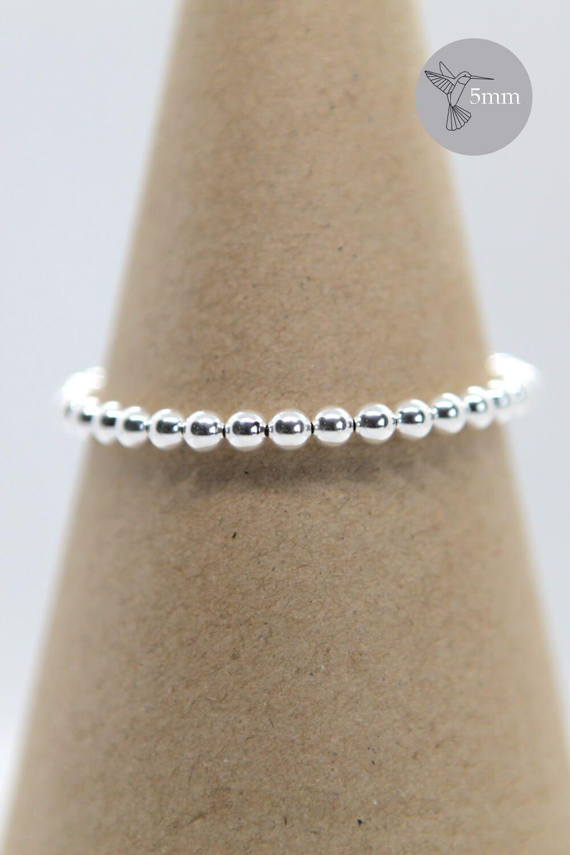 Photo of 5mm Sterling Silver Beaded Bracelet