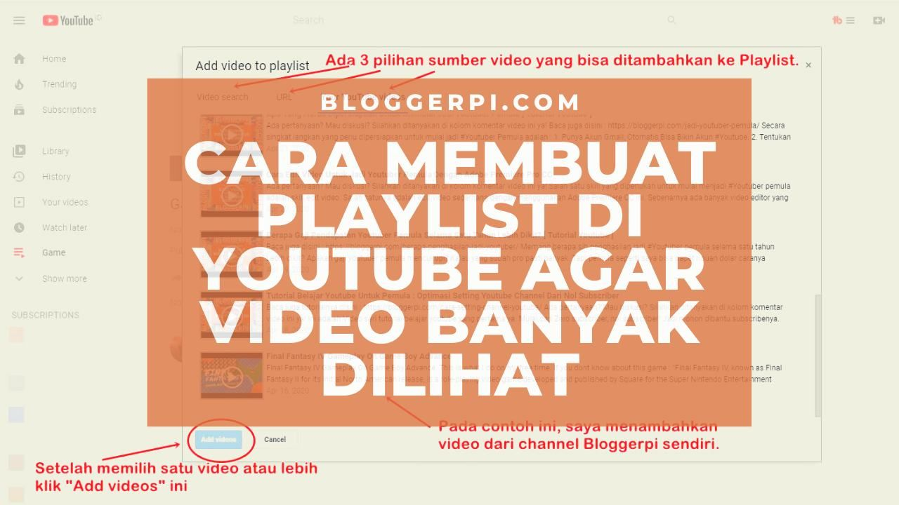 Cara Membuat Playlist Di Youtube Agar Video Di Youtube Makin Banyak Views Membuat Playlist Di Youtube Agar Video Di Youtube Makin B Di 2020 Youtube Video Bulan Baru