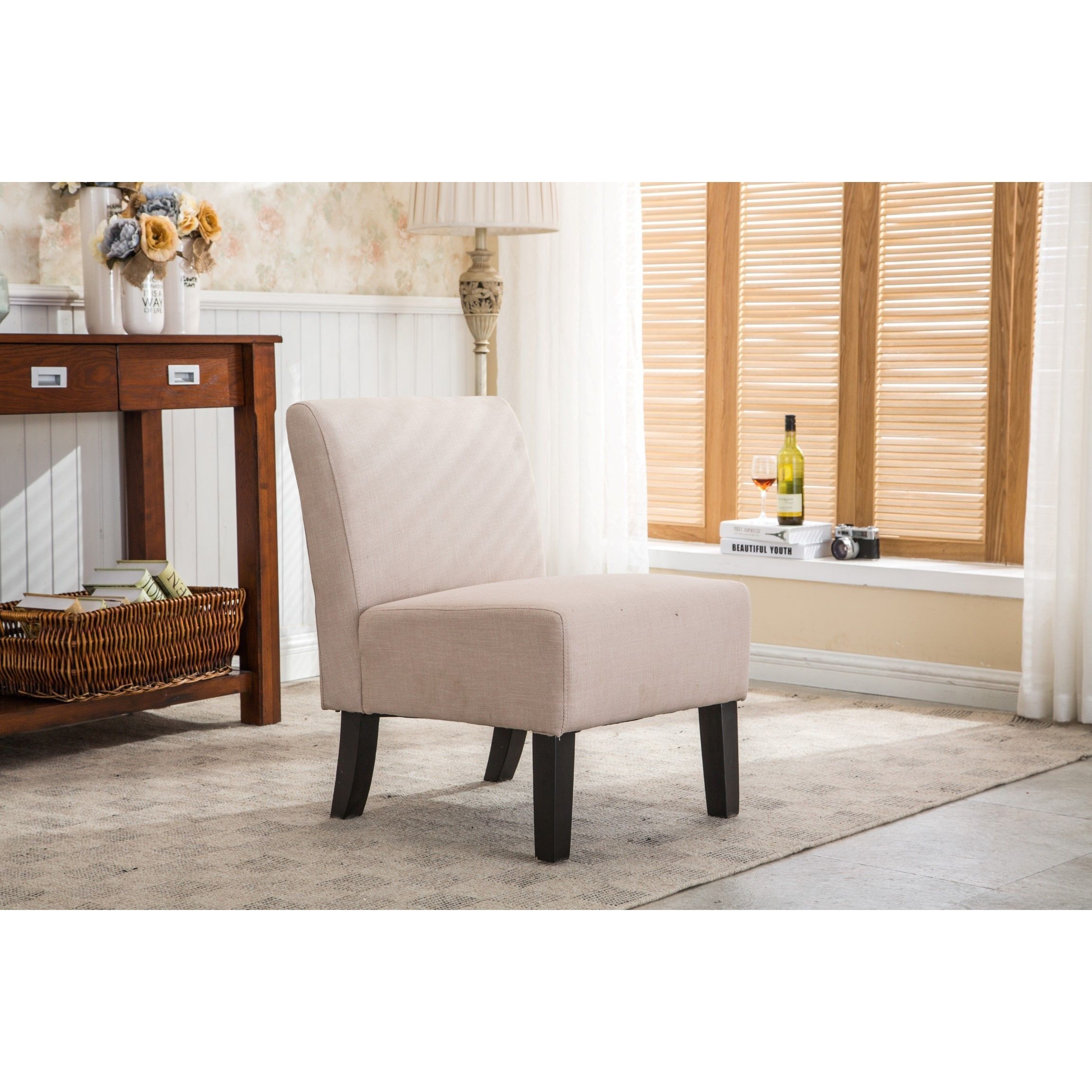 Provide Extra Seating With The Classic And Comfortable Design Of Samantha Armless Slipper Chair