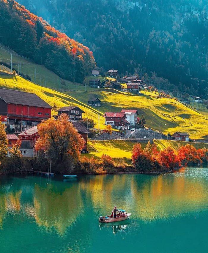 Nature At Its Best In Lungern Switzerland Autumn Scenes Switzerland Photography Beautiful Nature