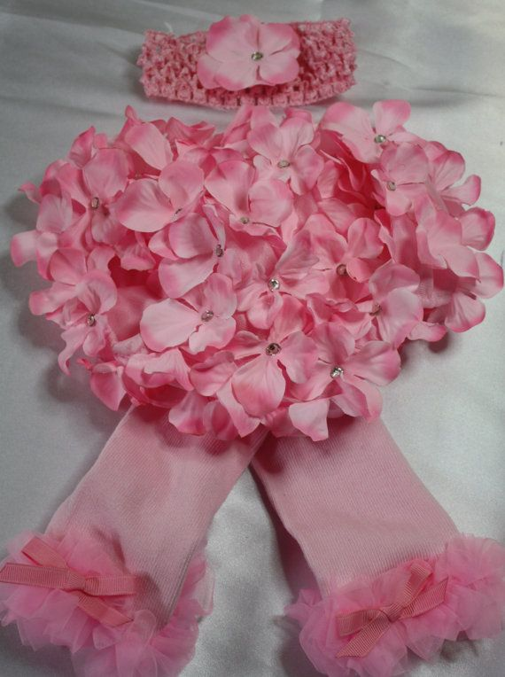 Baby girls pink hydrangea flower petal bloomer with by christy961, $24.00