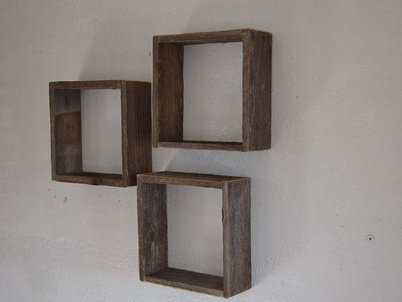 Wall Decor Boxes Awesome Upcycled Barnwood Shadow Boxes Rustic Wall Decor 10X10 ~~~ Put Inspiration