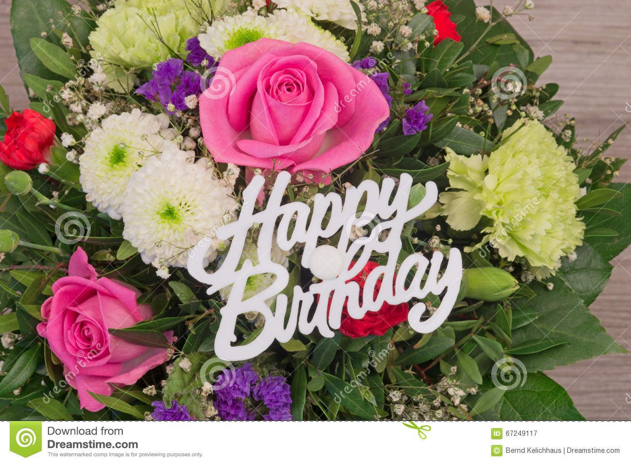 Flowers Bouquet Happy Birthday | Stock Flower Images ...