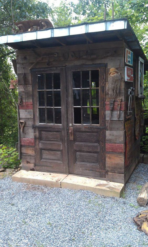 Garden Sheds From Recycled Materials garden shed made from salvaged/recycled/reclaimed wood & materials
