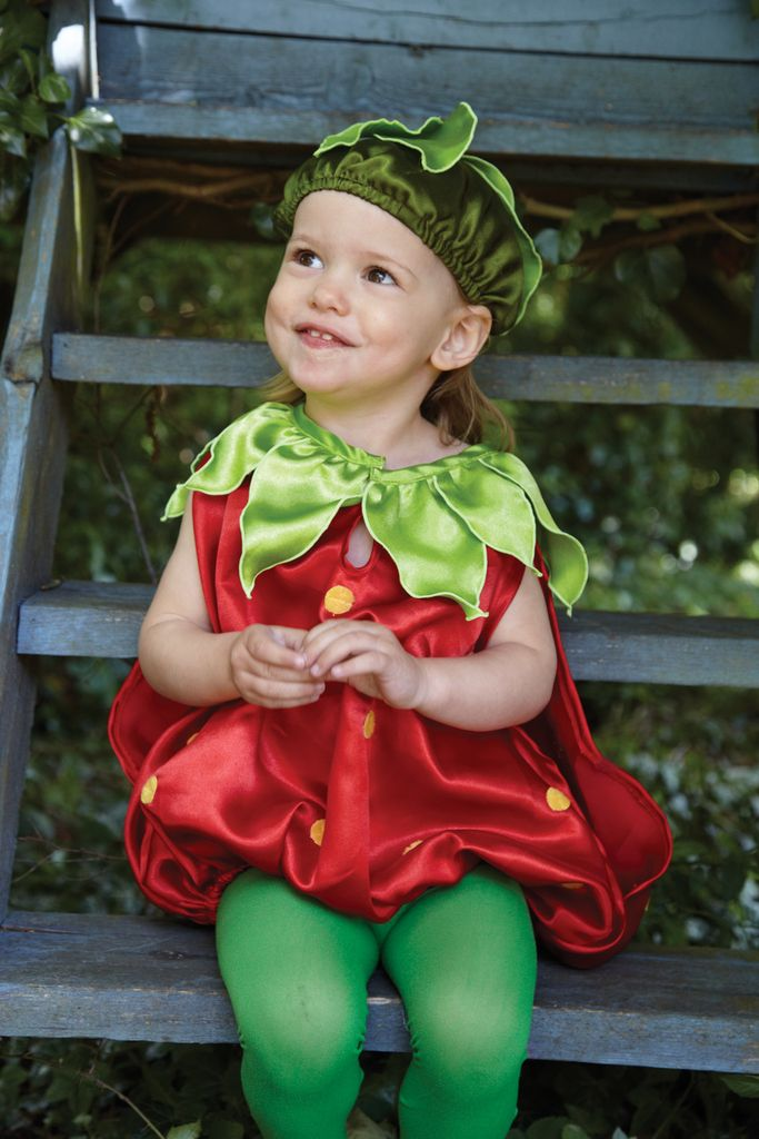 A delectable costume for children. A bright red and juicy green satin top and cap transforms toddlers into something good enough to eat.  sc 1 st  Pinterest & coxandcox ridiculously cute | ALL GODu0027S LITTLE CHILDREN ...