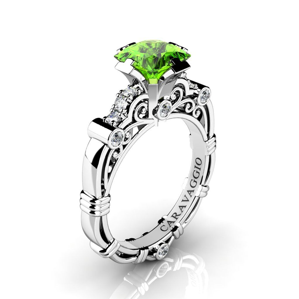 peridot ring set of beautiful rings amazing wedding