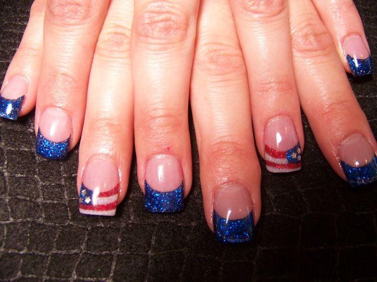 July 4 Nail Design   Health & Beauty » nail art - American Flag nailtips - July 4 Nail Design Health & Beauty » Nail Art - American Flag