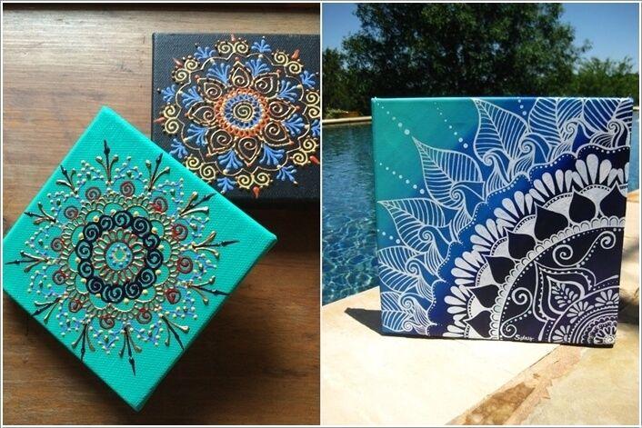 15 Amazing Mandala Home Decor Ideas You Will Admire 11 Mandala Canvas Hand Painted Canvas Canvas Wall Art