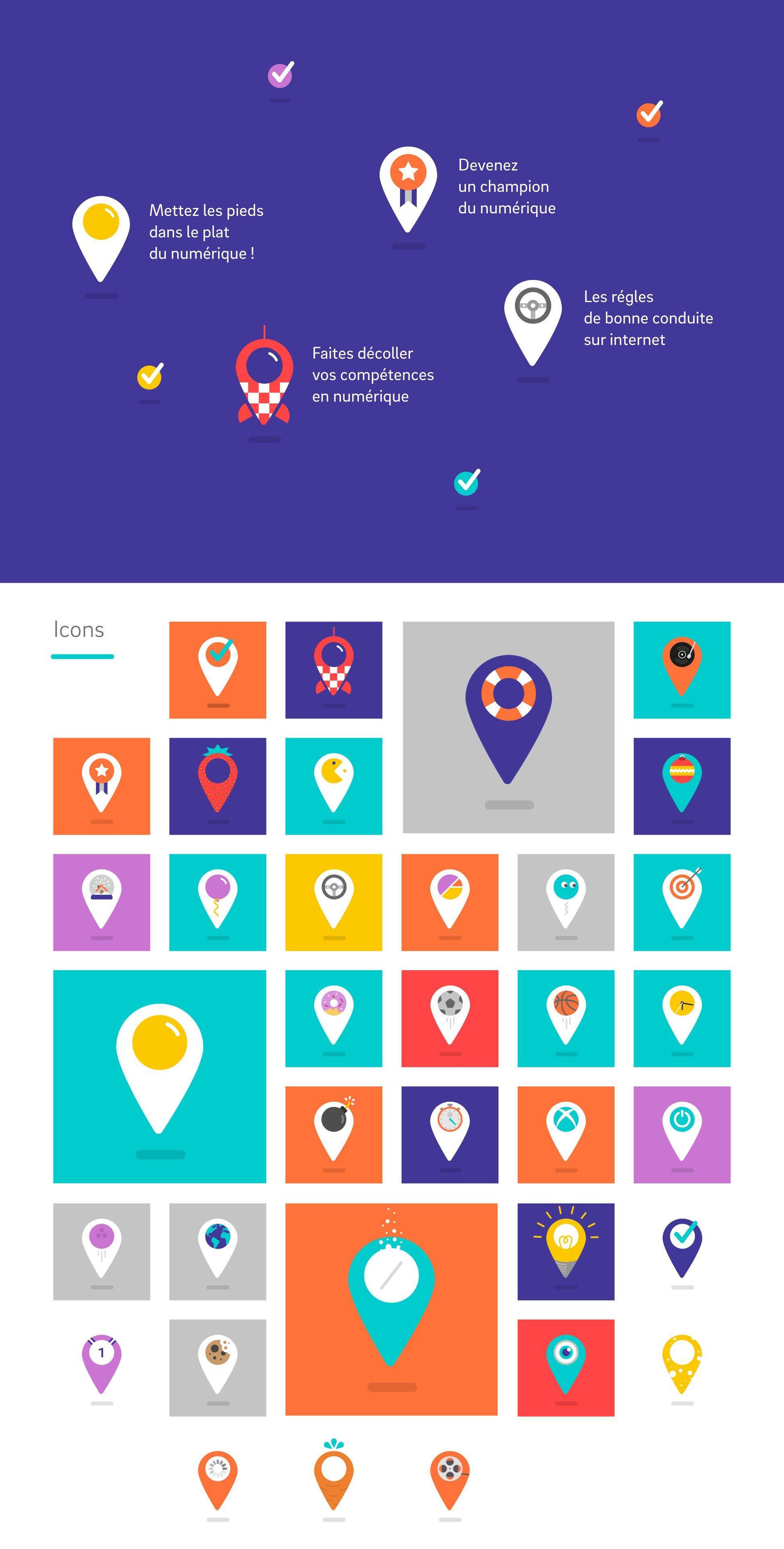 """Brand identity for """"La place numérique"""" A platform about"""