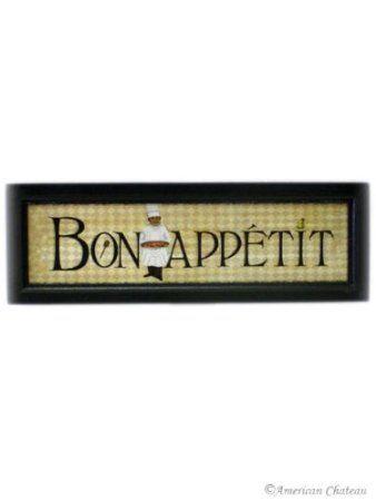 Amazon Com New Fat French Chef Bon Appetit Wall Art Kitchen Decor Home