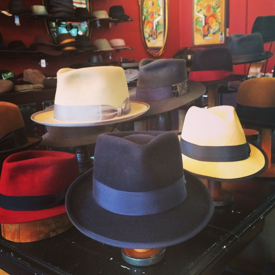 ac6d41dc A handful of custom hats made at The Brass Rooster. Mens Dress Hats, Men