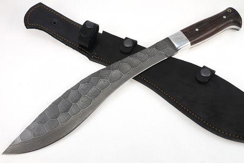 Damascus steel Kukri machete
