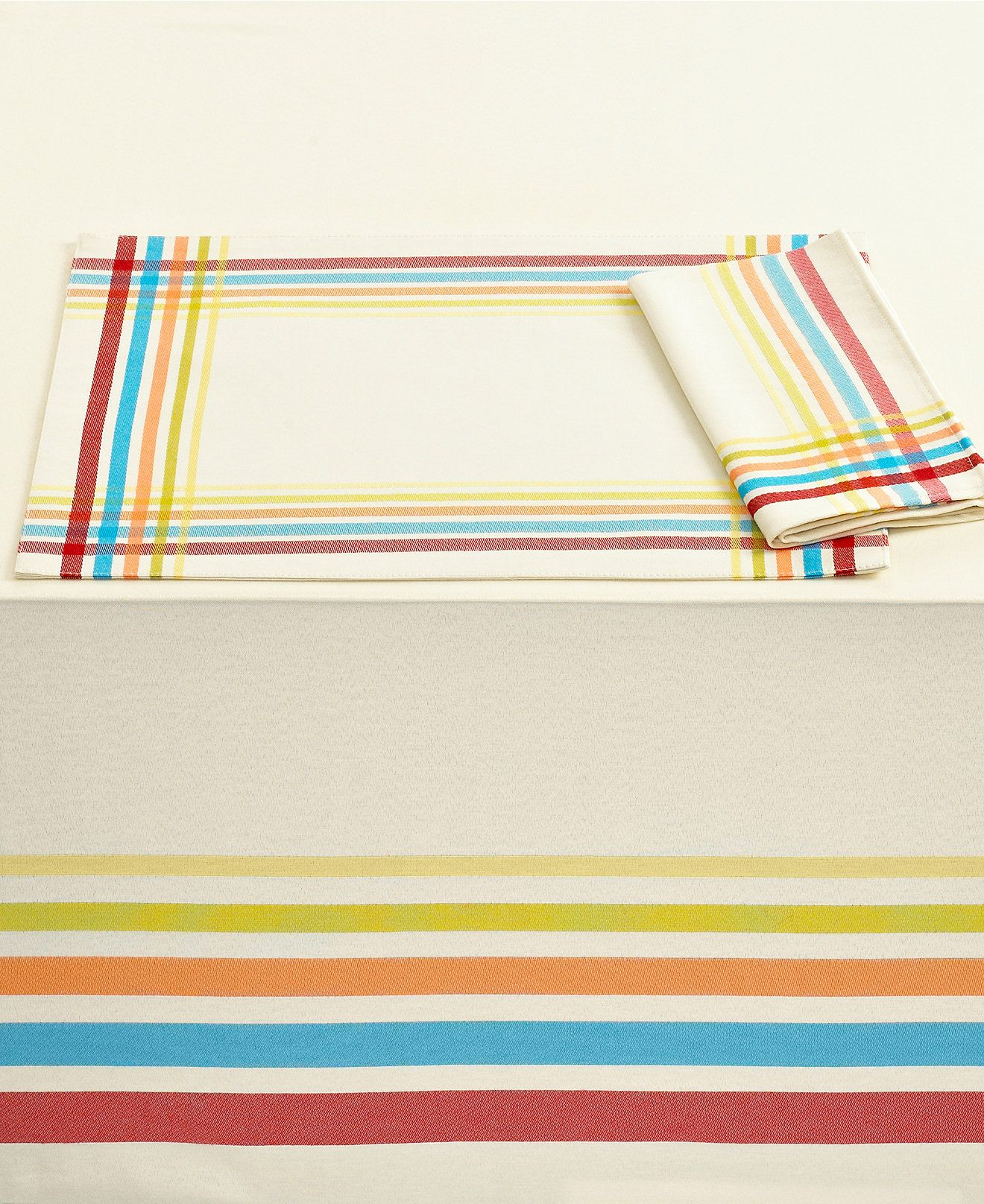 """Fiesta Table Linens, Classic Plaid 60"""" x 84"""" Tablecloth - Table Linens - Dining & Entertaining - Macy's"""