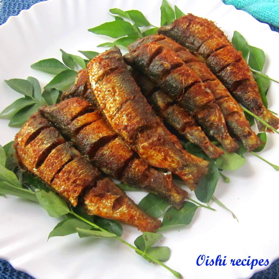 Mathi / Chaala / Sardine fish fry - Oishi Recipes