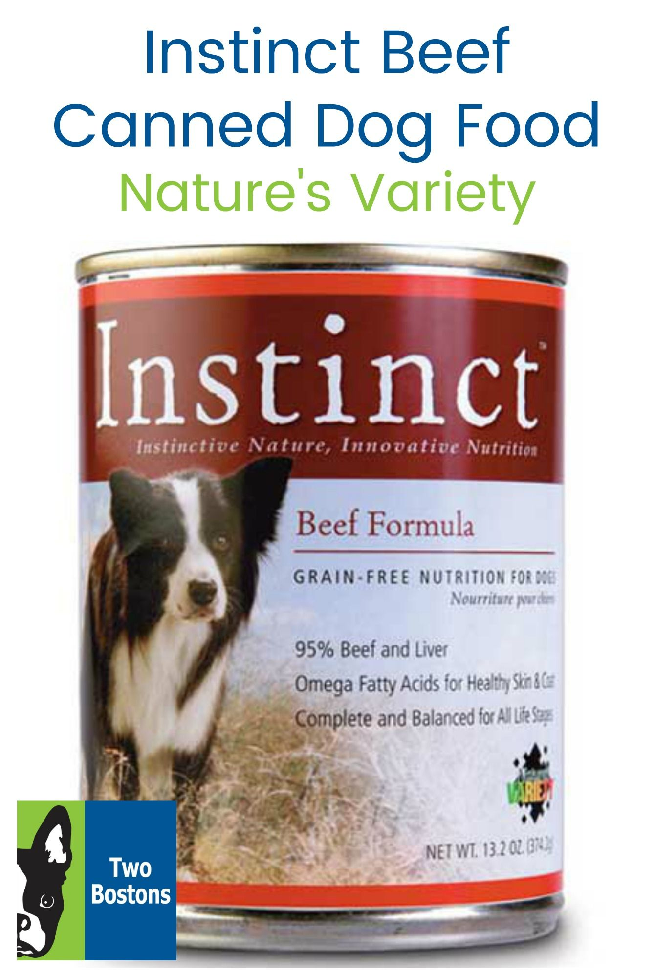 Instinct beef canned dog food by natures variety dog