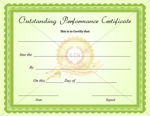 Sample Certificate Of Excellence Certificate Of Excellence Template