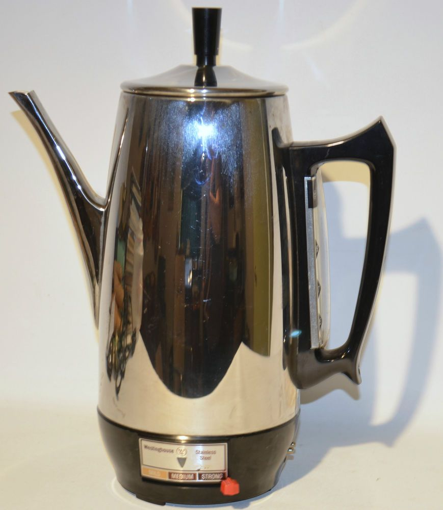 Vintage Westinghouse Stainless Steel HP771 Percolator