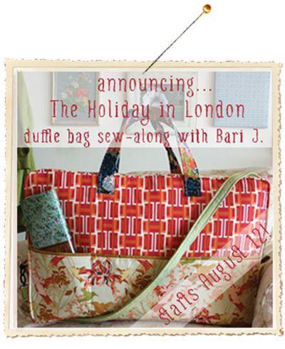 Holiday in London Duffle Bag Sew-Along! #barij #sewing #sewalong #diy #dufflebag
