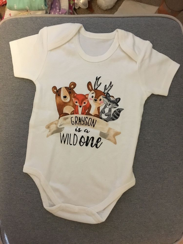 2cbbf2842 Personalized Grayson Baby Short-sleeved Bodysuit 12-18 Months ...