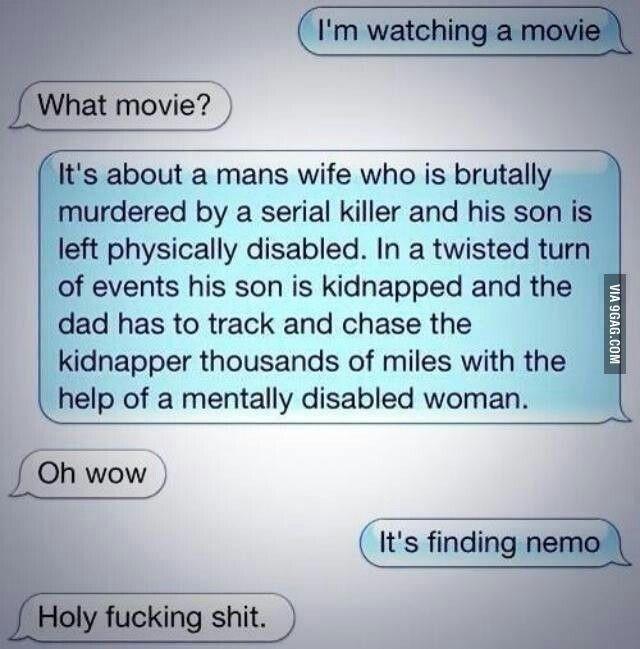 Dramatic summary of finding nemo