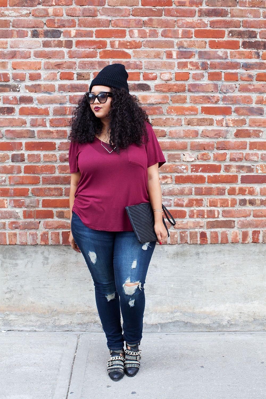 Plus Size Fashion - GabiFresh - Tee & Jeans | Plus Size Fashion ...