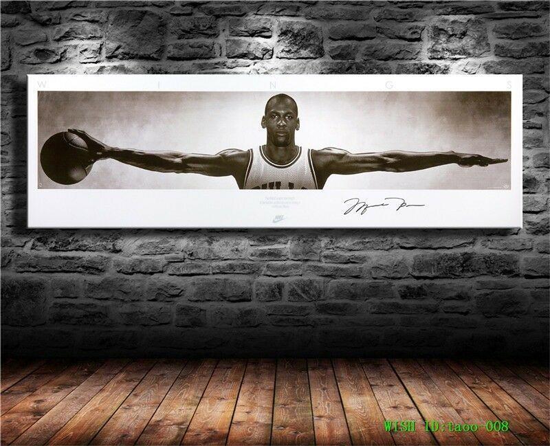 Michael Jordan Canvas Hd Prints Painting Wall Art Home Decor 12x39 Inch Michaeljordan Posters Michael Jordan Canvas Michael Jordan Art Michael Jordan Poster