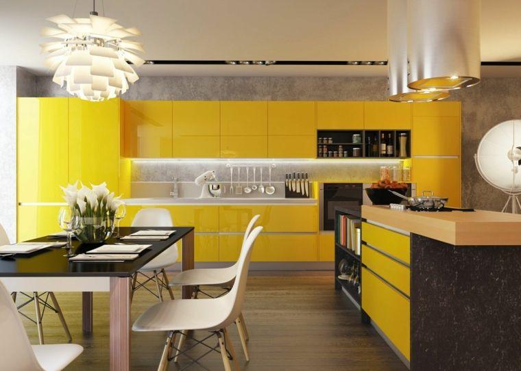 Cuisine Moderne Jaune petite cuisine équipée jaune que l'on peut cacher dans un placard