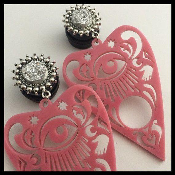 Covet Jewelry Psychedelic Mushroom Single Flared Ear Gauge Plug