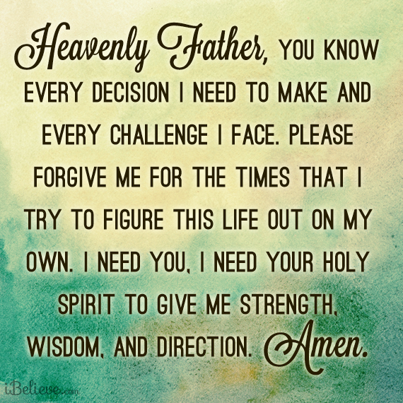 Lord Please Give Me Your Direction Today Amen 3 Prayer