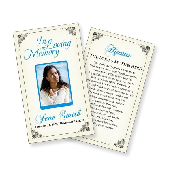 Funeral Prayer Cards Templates  Funeral Ideas