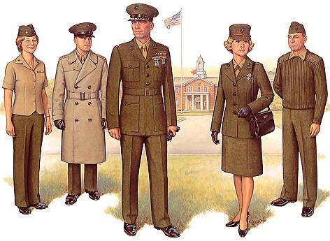 Us Marine Corps Uniforms   left to right: Utility Uniform, Blue ...