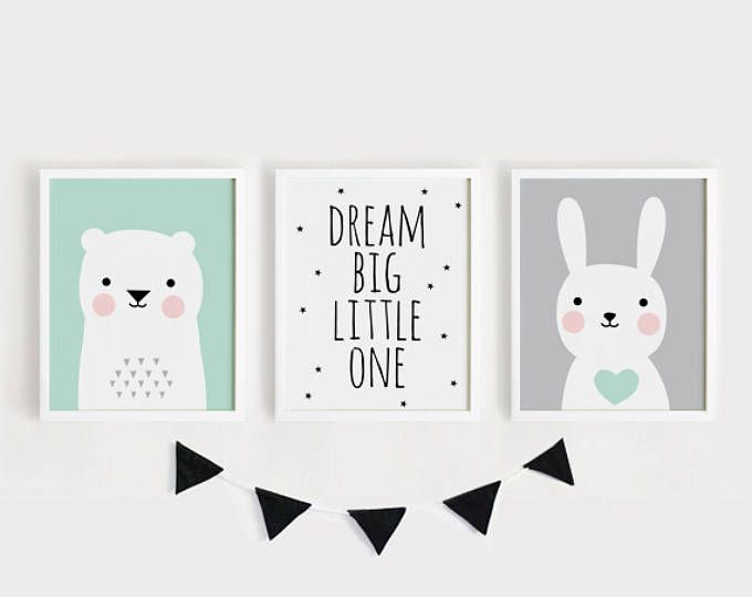 Printable Nursery Art Set Of 2 Poster Baby Room Wall Art Kids Room