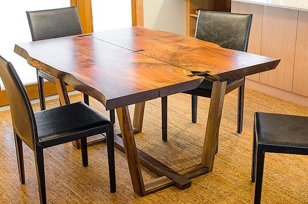 Reclaimed Wood Modern Dining Table, Portland, Oregon Oregon Black
