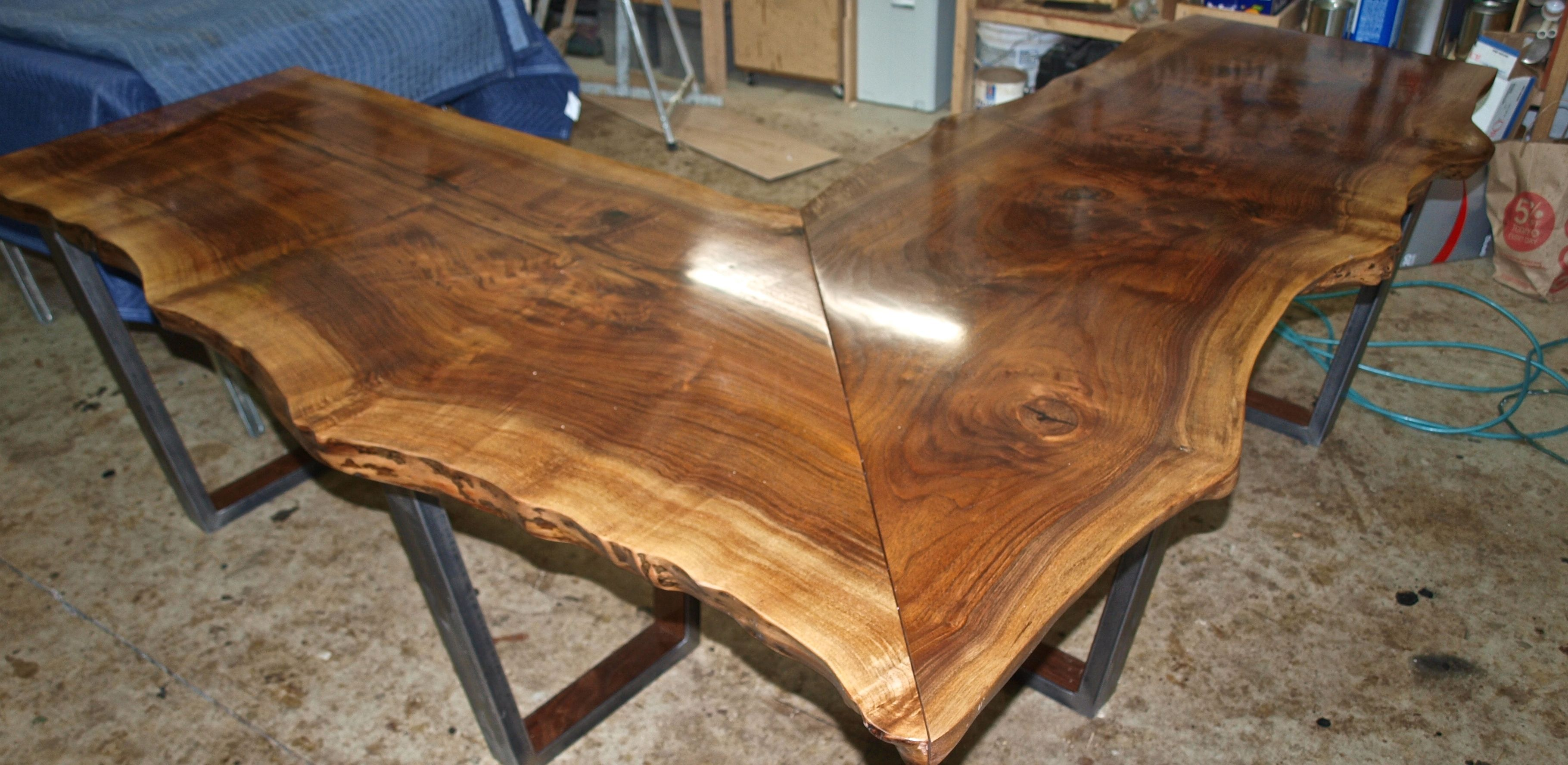 Live Edge Walnut L Shaped Desk L Shaped Desk Live Edge Desk Wood Corner Desk