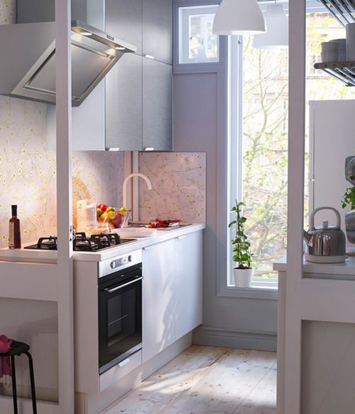 small kitchen kitchen Pinterest Kitchens, Small spaces and