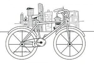 Accordion Bicycle Craft Idea For Kids Preschool And Kindergarten